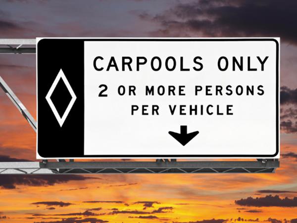 Las Vegas Violaciones del carril de Carpool